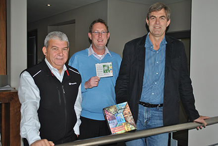 From Left the right: Ronnie Taljaard, Barry Theunissen and Adriaan Scheeres.